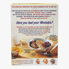 Whole wheat cereal with vitamins and iron Weetabix