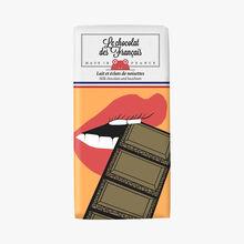 Lait et éclats de noisettes, illustration Cléa Lala Le chocolat des Français