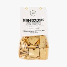 Mini-focaccias aux olives de papi Armando Les Niçois