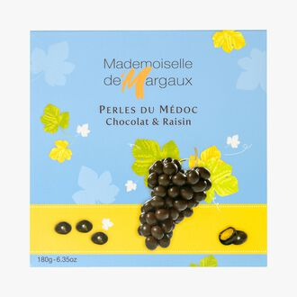 Chocolate-coated raisins, Perles du Médoc Mademoiselle de Margaux