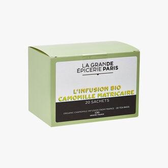 L'infusion bio camomille matricaire 20 sachets La Grande Épicerie de Paris
