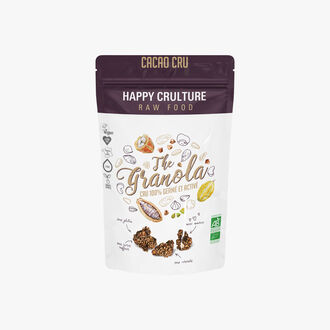 Raw criollo cocoa and activated seed granola  Happy Crulture
