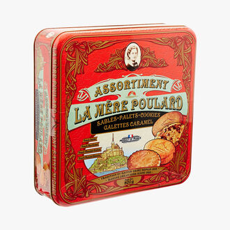 Gift set assortment of shortbread, cookies and caramel galette biscuits La mère Poulard