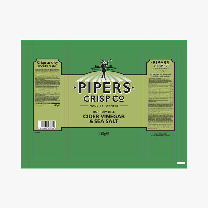 Chips vinaigre de cidre Pipers Crisp Co