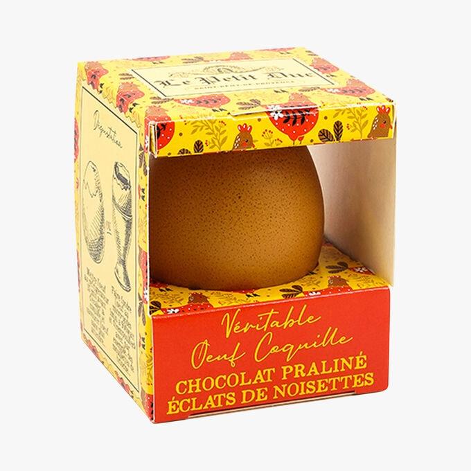 Véritable œuf coquille chocolat praliné éclats de noisette Le Petit Duc