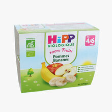 Coupelles de fruits pour enfant : pommes, bananes HiPP