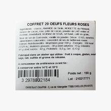 Coffret 20 œufs fleurs roses Chapon