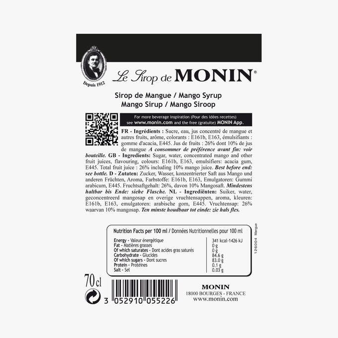 Sirop de mangue Monin