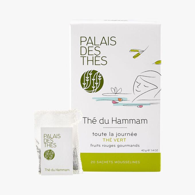 Thé du hammam, thé vert, fruits rouges, 20 sachets mousselines Palais des Thés