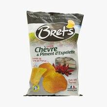Chips de pommes de terre saveur chèvre & piment d'Espelette Bret's