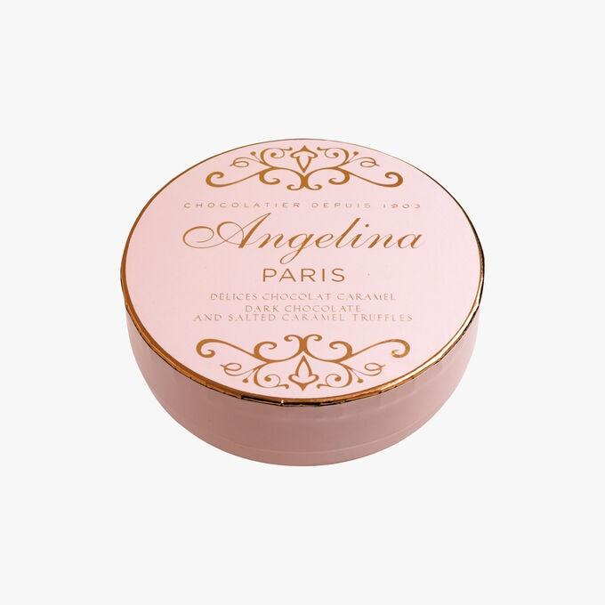 Dark chocolate and salted caramel truffles Angelina
