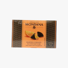 Dark chocolate orange quarters   Chocolaterie Monbana