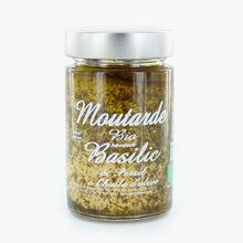 Moutarde bio saveur basilic et persil à l'huile d'olive Savor & Sens