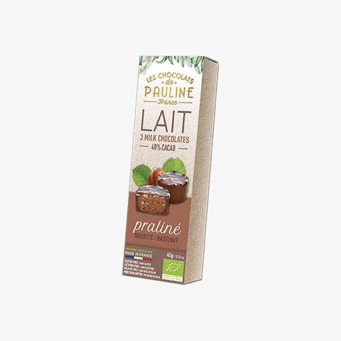 Lait 40% cacao, praliné noisette Les Chocolats de Pauline