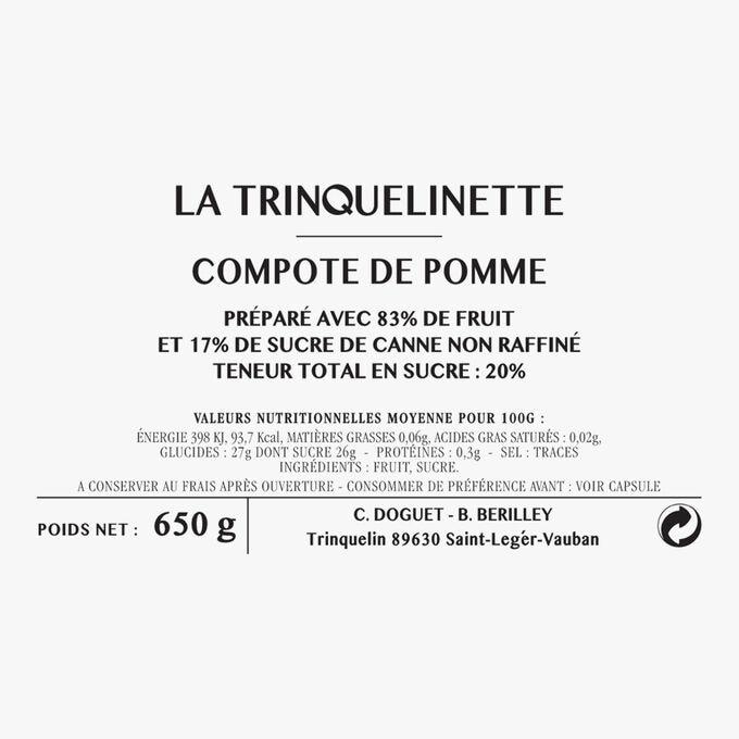 Compote de pomme La Trinquelinette