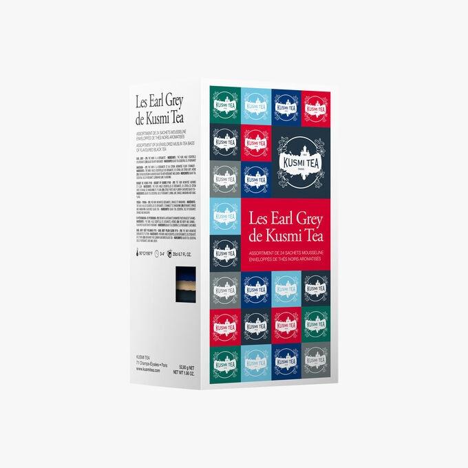 Les Earl Grey étui carton 24 sachets mousseline Kusmi Tea