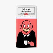 Noir et éclats de noisettes, illustration Jean Jullien Le chocolat des Français