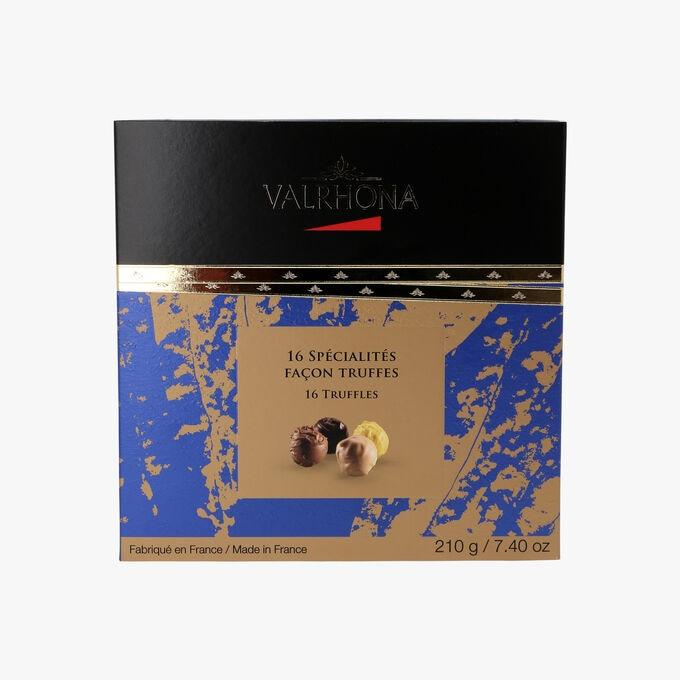 Gift box of 16 truffle specialities   Valrhona