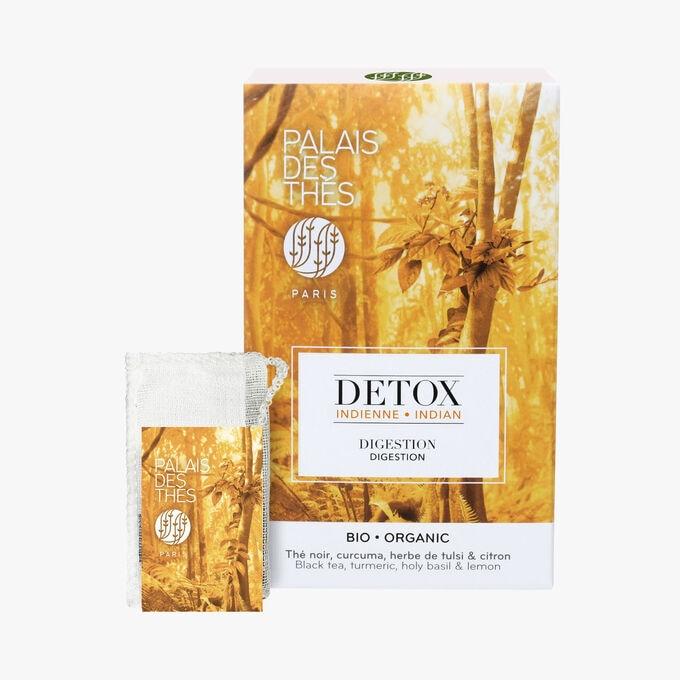 Organic Indian detox, box of 20 muslin teabags Palais des Thés