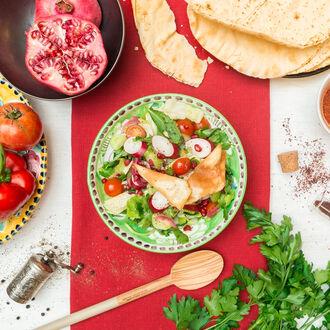 Fattoush salad, , hi-res title=Fattoush salad,