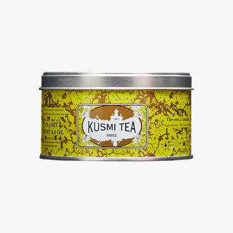 Almond Green Tea, metal tin Kusmi Tea