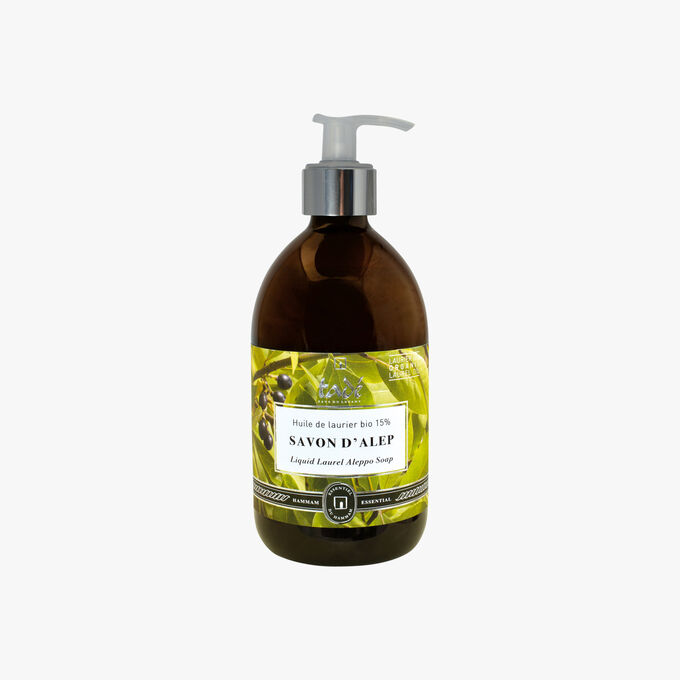 Liquid Aleppo Soap, Organic bay laurel oil 15 % Tadé Pays du Levant