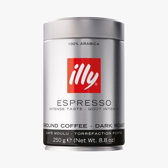 Café moulu torréfaction forte, espresso Illy