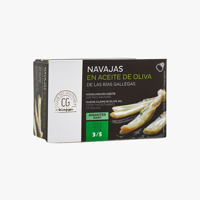 Couteaux des Rias Galiciennes à l'huile d'olive El Corte Inglés - Club del Gourmet