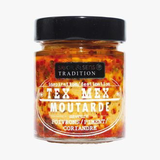 Tex Mex-inspired mustard with peppers, chili and coriander. Savor & Sens