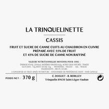 Confiture de cassis La Trinquelinette