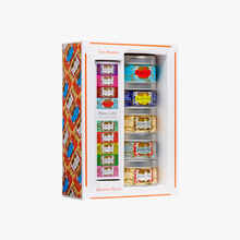 Gift set of 5 miniature tins of Russian Blends with tea infuser tong Kusmi Tea