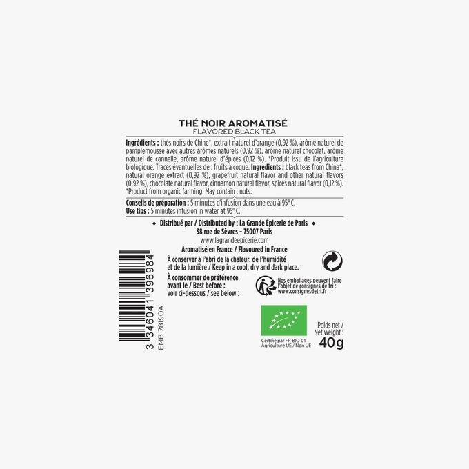 Le thé bio aux agrumes et épices - 20 sachets mousseline La Grande Épicerie de Paris
