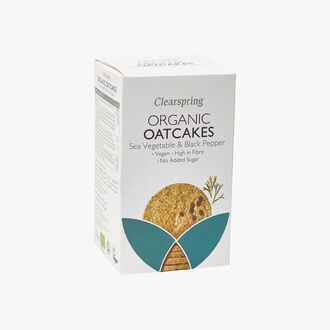 Organic Oatcakes - Sea Vegetables & Black Pepper Clearspring