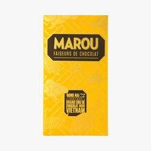 Tablette de chocolat noir du Vietnam, Đồng Nai,72% de cacao Marou
