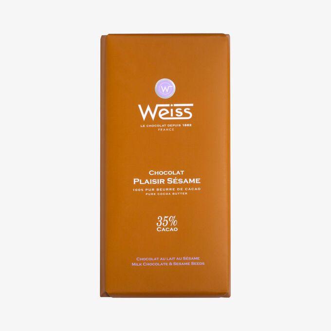 Tablette chocolat au lait au sésame Weiss