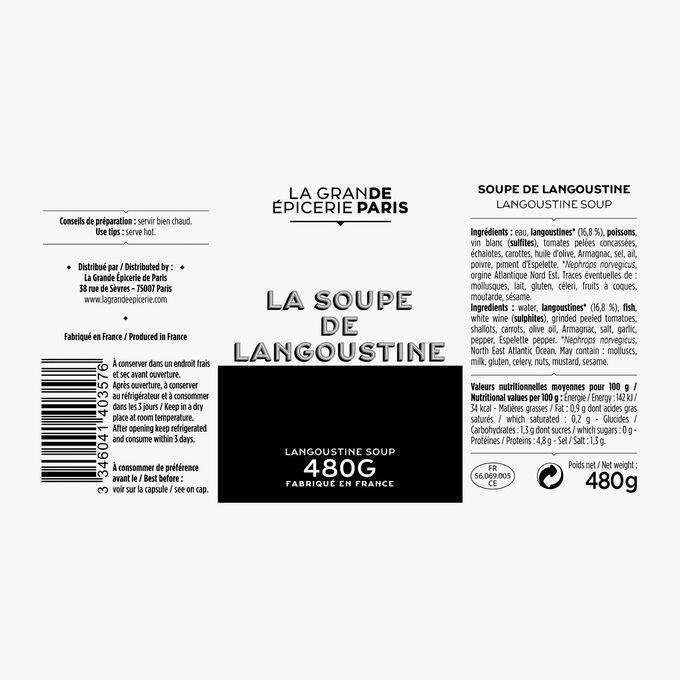 Soupes de langoustine La Grande Épicerie de Paris