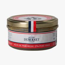 Partridge pâté 25 % duck liver  Maison Dubernet