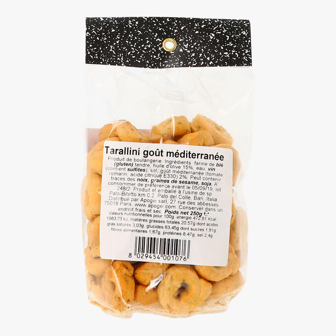 Tarallini goût méditérranée Les deux siciles