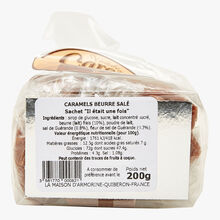 "Soft salted butter caramels - sachet ""Once upon a time"" La Maison d'Armorine"
