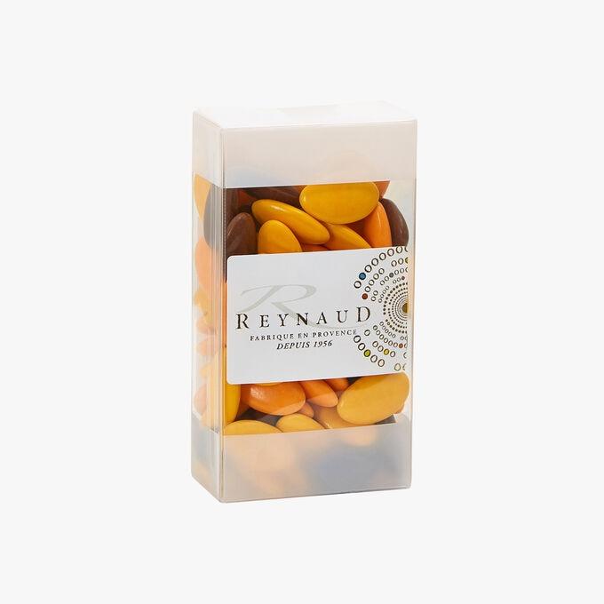 Dragées Chocolat Cacao 70 % - Orange - Soleil - Marron Reynaud