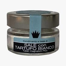 Condiment saveur truffe à base de sel de Guérande IGP à la truffe blanche (Tuber magnatum Pico) Tartufi Ponzio