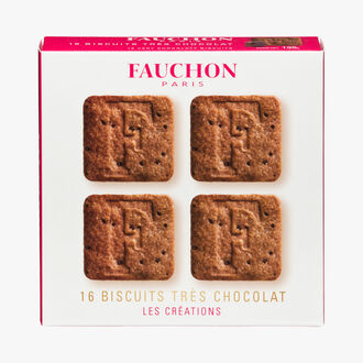 16 biscuits très chocolat FAUCHON