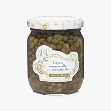 Non-pareil capers in fine vinegar Albert Ménès