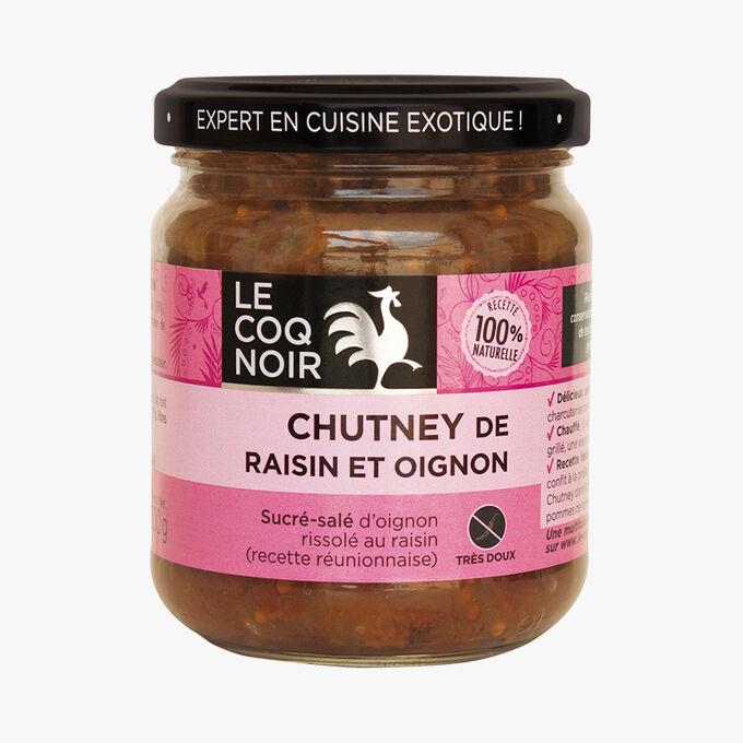 Chutney de raisin et oignon Le Coq Noir
