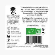 Cidre Fusion, bio, Yuzu Basilic, L'Audacieux Fils de Pomme