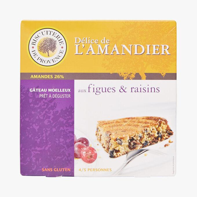 Gâteau moelleux aux figues & raisins prêt à déguster sans gluten Biscuiterie de Provence