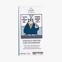 Tablette de chocolat Le Chat, sel de Guérande Dolfin