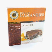 Gâteau aux amandes et chocolat sans gluten Biscuiterie de Provence