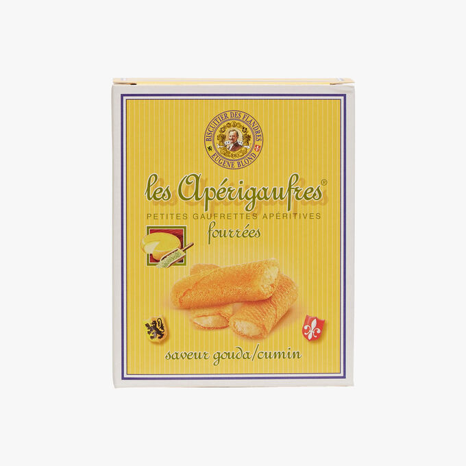 Small waffles filled with cumin and Gouda Biscuiterie Eugène Blond