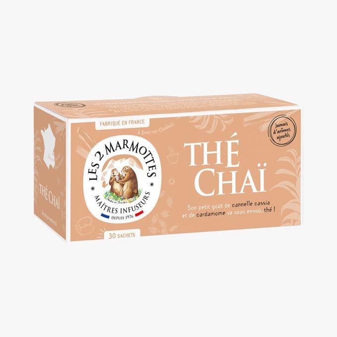 Thé Chaï,  30 sachets Les 2 marmottes